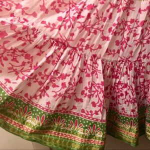 🌸 Indian cotton bright pink and green OS